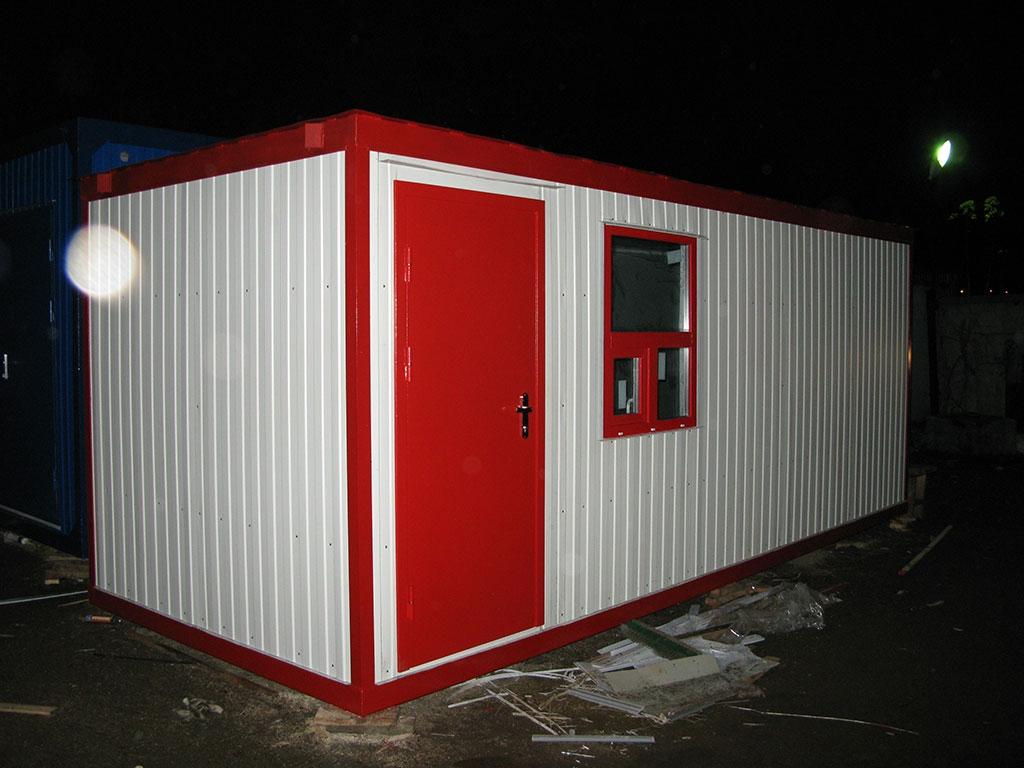 Блок-контейнер шиномонтаж красный