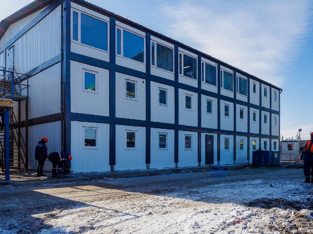 Модульный штаб строительства, СПб, набережная адмирала Лазарева