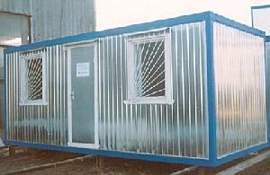 Двухкомнатный металлический блок-контейнер