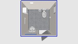 Туалет 2х2м, с умывальником, односместный