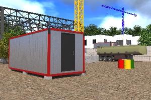 Бытовка строительная БКД-1 (без перегородок)